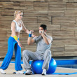 Stockfoto: Fitness personal trainer