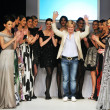 Stok fotoğraf: Young fashion designer on the stage
