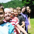 Child group outdoor — Stock Photo
