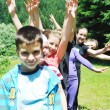 Child group outdoor — Stock Photo #1685477