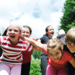 Stock Photo: Child group outdoor