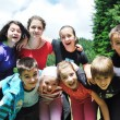 Child group outdoor - Stock Photo