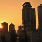 Sunrise cityscape — Stock Photo