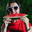 Royalty-Free Stock Photo: Woman watermelon