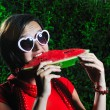 Woman watermelon — Stock Photo #1685911