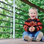Children fashion outdoor — Stock Photo