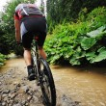 Mount bike man outdoor — Stock Photo