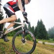 Wet mount bike ride - Stock Photo