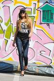 Kobieta miejski moda — Zdjęcie stockowe