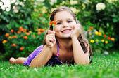 счастливый детей открытый — Стоковое фото