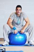 Człowiek fitness, jeden — Zdjęcie stockowe