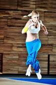 Fitness kobieta, jeden — Zdjęcie stockowe