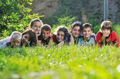 Child group outdoor — Stok fotoğraf