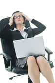 Business woman isolated one — Stock Photo