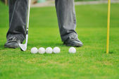 Golf ball game — Stock Photo