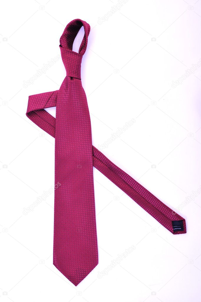 Business fashion isolated new necktieon white background — Stock Photo #1680718