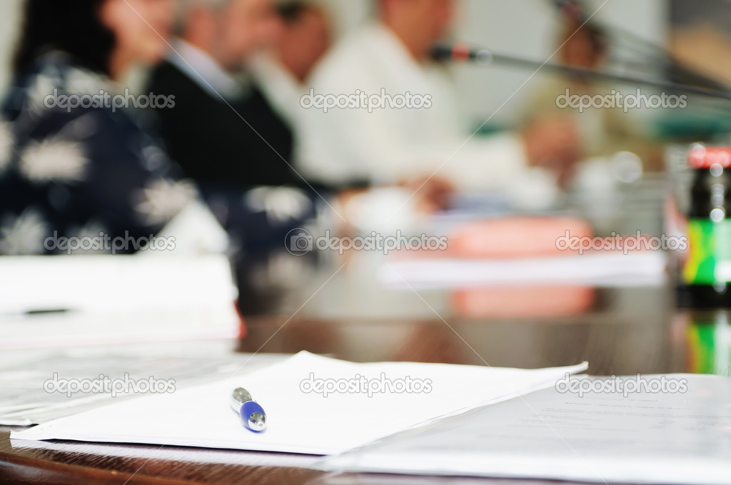 Business beople on meeting conference taking notes and make deal   — Stock Photo #1685531