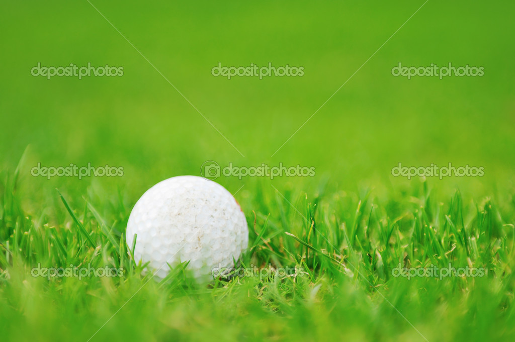 Golf ball on sports golf course and hole  Stock Photo #1687108