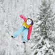Stock Photo: Snowboard jump