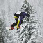 Snowboard jump — Stock Photo #2169213
