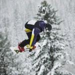Snowboard jump — Stock Photo