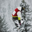 Snowboard jump — Stock Photo