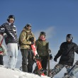 Snowboarders relaxing and enjoy sun — Stock Photo #2237393
