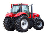 New red tractor — Foto de Stock