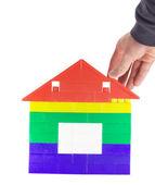 Costruire casa giocattolo 2 — Foto Stock