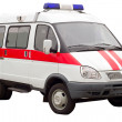 auto ambulanza isolata — Foto Stock