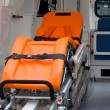 ambulance interieur — Stockfoto