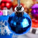 Blue small fir ball — Stock Photo