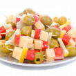 Canape on plate — Stock Photo
