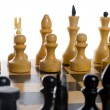 Stock Photo: Close-up chess beginning