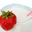 Close-up strawberry milkshake — Stock Photo #1698946