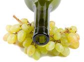 Cuello de botella y las uvas — Foto de Stock