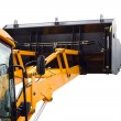 Excavator cabine and bucket - Stock Photo