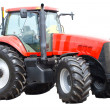New red tractor isolated - Foto Stock