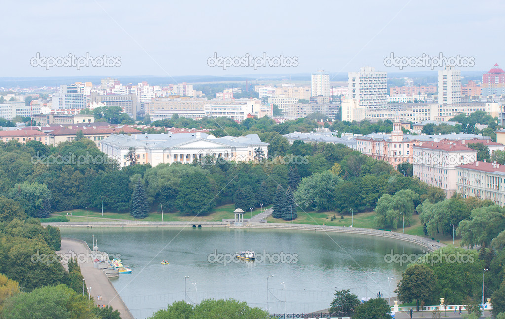 Minsk city, view from above — Stock Photo #1715279
