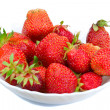 Strawberries on plate — Stock Photo