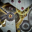 Super macro clock mechanism 1 — Stock Photo