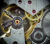 Super macro clock mechanism 1 — Stock Photo
