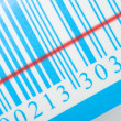 Blue barcode with laser strip — Stock Photo #1793347