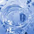 Blue corona from water drop — Stock Photo