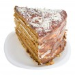 Close-up piece of home made honey cake — Stock Photo #1799896