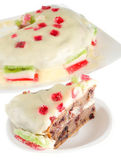 Cake with cream and fruit jelly — Foto de Stock