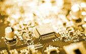 Chip on circuit board — Stock Photo