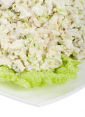 Close-up kippensalade — Stockfoto