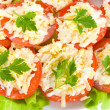 Close-up stuffed tomatoes — Stock Photo #1800348