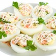 Eggs stuffed with red fish — Stock Photo #1800905